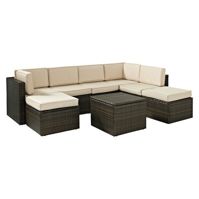 Palm Harbor 8-Piece Wicker Patio Sectional Seating Furniture Set