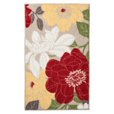 Threshold™ Spring Floral Kitchen Rug - Red
