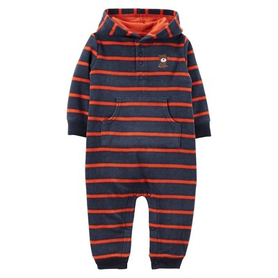Just One You™Made by Carter's® Newborn Boys' Bear Jumpsuit - Navy/Orange 3 M