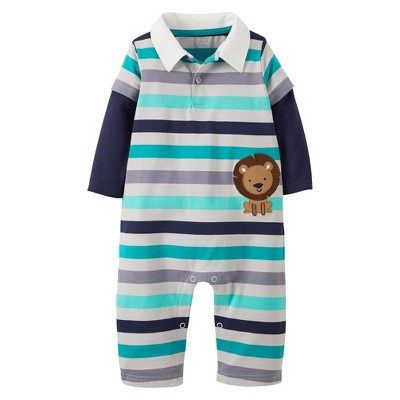 Just One You™Made by Carter's® Newborn Boys' Lion Jumpsuit - Navy 3 M