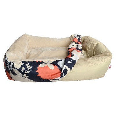 Pet Bed Cover Medium Flower Silhouette Navy/Coral - Boots & Barkley™
