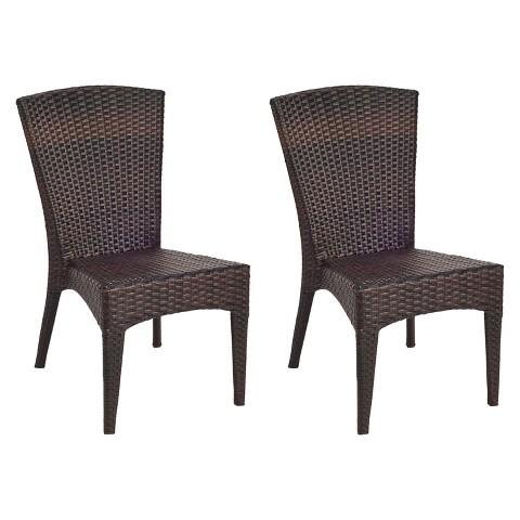 Nantucket 2-Piece Wicker Patio Side Chair Set