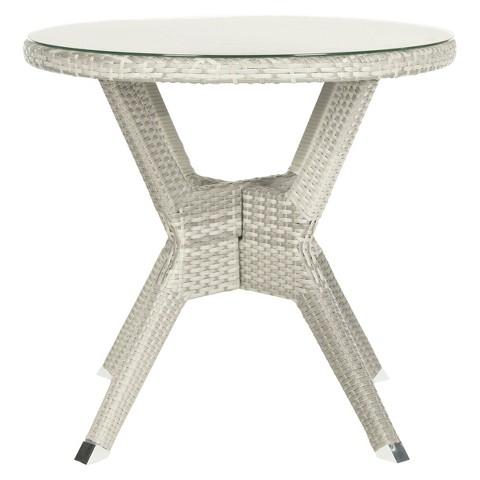 Safavieh Mykonos 4-Piece Wood Patio Conversation Furniture Set