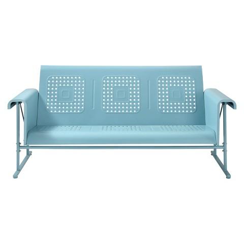 Crosley Veranda Metal Patio Sofa Glider : Target