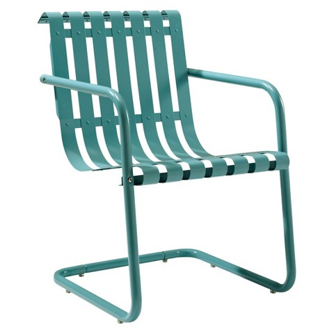 Gracie Metal Retro Patio Spring Chair