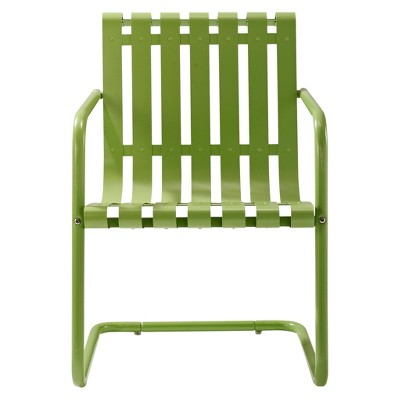 Gracie Metal Retro Patio Spring Chair - Green
