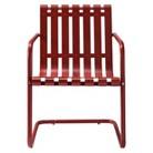 Crosley Gracie Metal Retro Patio Spring Chair