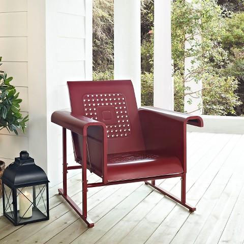 Crosley Veranda Metal Single Patio Glider Chair