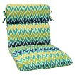 Ecom Outdoor Seat Cushion PllwPf Polyester NVY GRN GLD