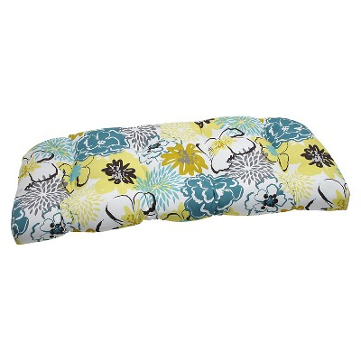 Ecom Outdoor Seat Cushion PllwPf Polyester YLW PEACOC HOTFUD WHT
