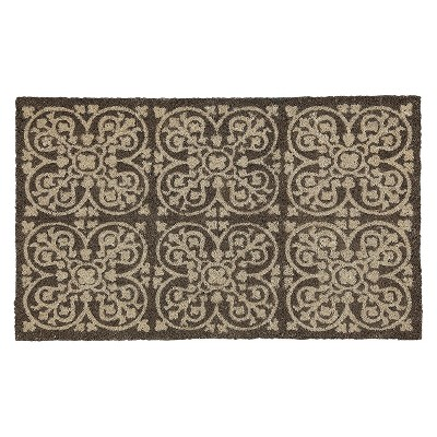 "Threshold™ Fretwork Mat - Neutral (1'6""x2'6"")"