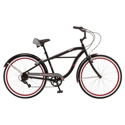 "Schwinn Men's 26"" Cruiser Bike- Black/Red"