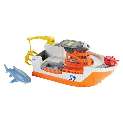 Matchbox Car-Go Shark Ship Playset