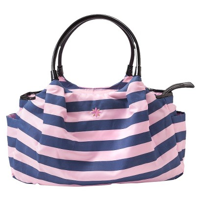 JP Lizzy Stripe Allure Diaper Bag - Navy/Pink