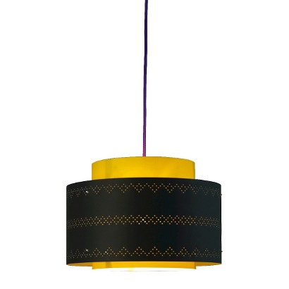venlo plug in pendant yellow with violet cord target. Black Bedroom Furniture Sets. Home Design Ideas