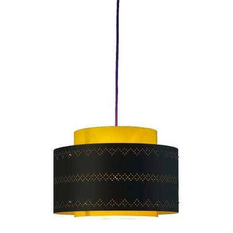 Venlo Plug-In Pendant - Yellow with Violet Cord
