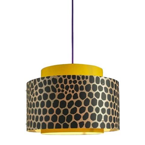 Venlo Plug-In Pendant Light - Ochre with Violet Cord