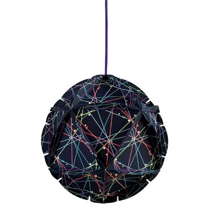 como plug in pendant ceiling lamp blue with viol target. Black Bedroom Furniture Sets. Home Design Ideas