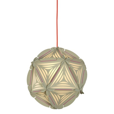 como plug in pendant ceiling lamp greige with cherry red cord product. Black Bedroom Furniture Sets. Home Design Ideas
