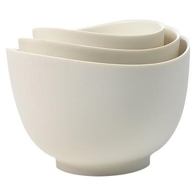 ISI 3 Piece Mixing Bowl Set - White