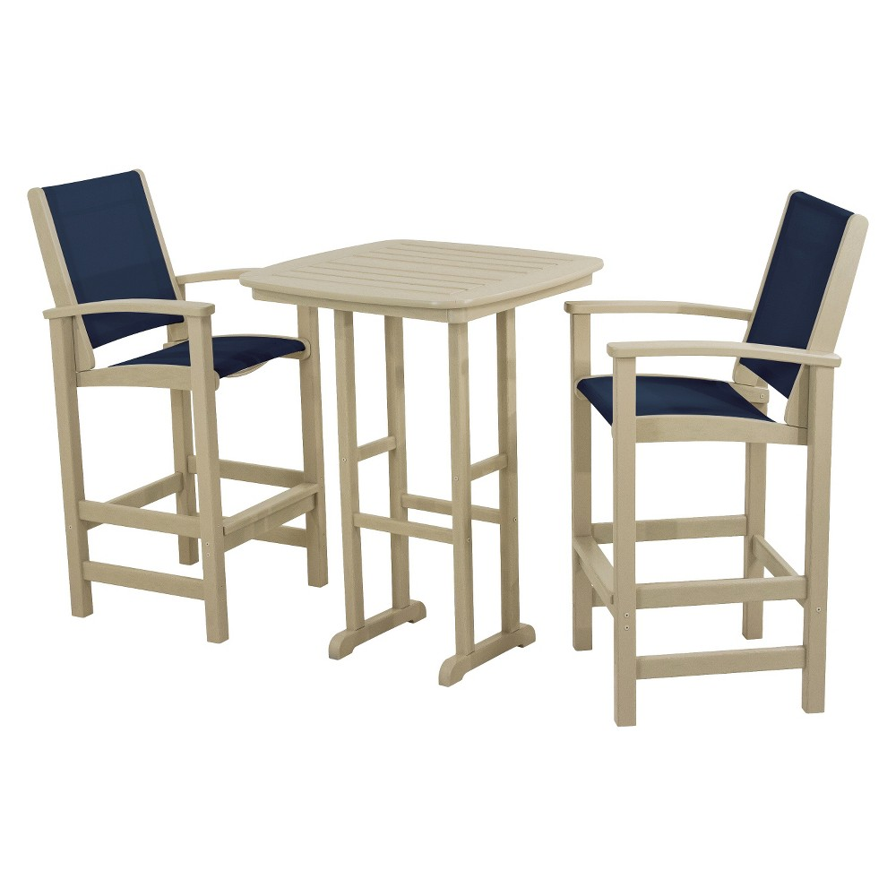Patio dining set polywood coastal 3 piece sling bar furniture set - Must have pieces for your patio furniture ...