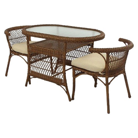 Corona Wicker 3-Piece Patio Bistro Set