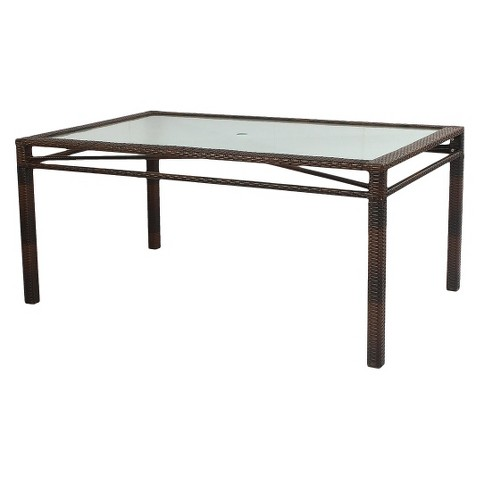 Wicker Rectangular Patio Dining Table Product Details Page