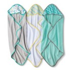 Circo® Newborn 3 Pack Hooded Towels - Turquoise/Grey