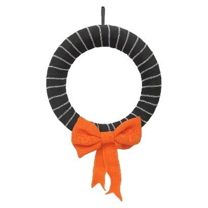 "Image of 16"" Burlap Halloween Wreath"