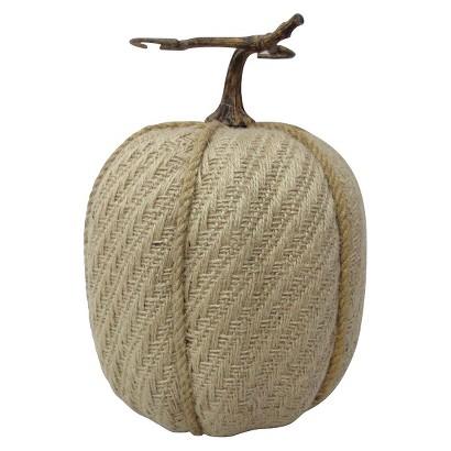 """Image of 10"""" Burlap Pumpkin"""