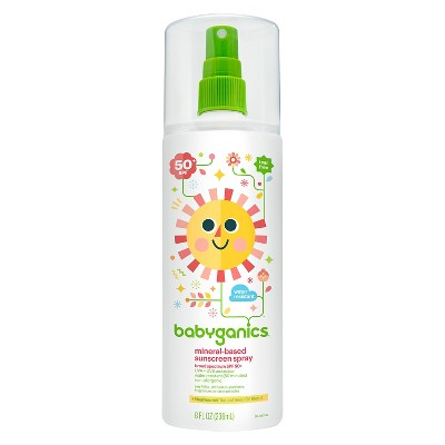 Babyganics Mineral-Based Baby Sunscreen Spray, SPF 50 - 8oz