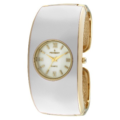 Women's Peugeot®Enamel Cuff Watch - White