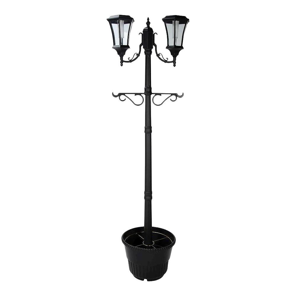 upc 685795128803 sunergy solar lamp post with planter base 50400356. Black Bedroom Furniture Sets. Home Design Ideas