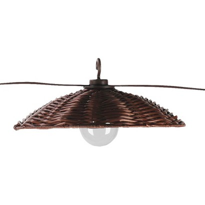 Rattan decorative outdoor string lights target
