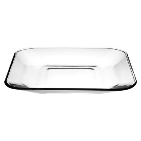 "Anchor Hocking Square Glass Plate (9"")"