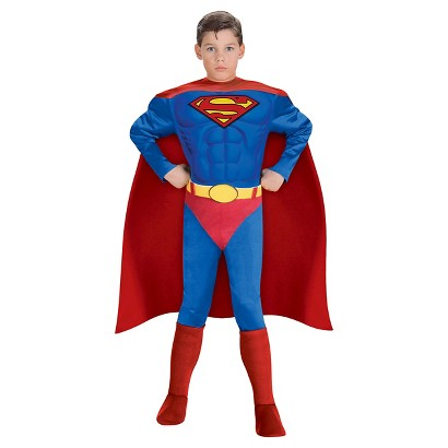 Boy's Justice League: Superman Muscle Chest Costume