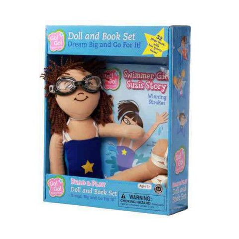 Swimmer Girl Suzi's Story: Winning Strokes: Read & Play Doll and Book Set (Go! Go! Sports Girls Series)
