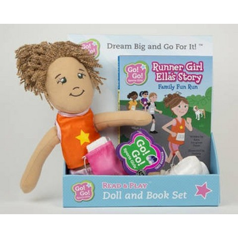 Runner Girl Ella's Story: Family Fun Run: Read & Play Doll and Book Set (Go! Go! Sports Girls Series)