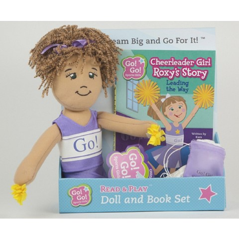 Cheerleader Girl Roxy's Story:Leading the Way:Read & Play Doll and Book Set (Go! Go! Sports Girls Series)