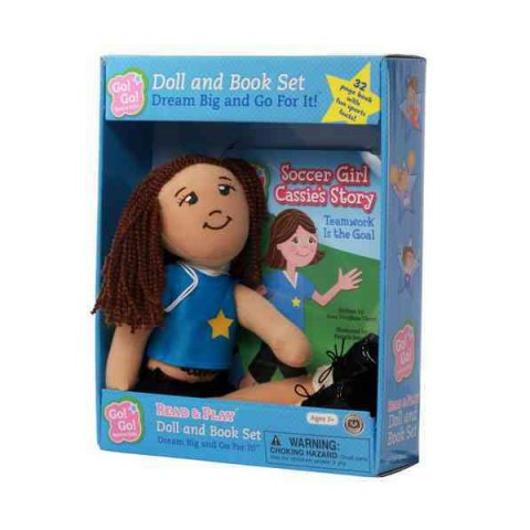 Soccer Girl Cassie's Story:Teamwork Is the Goal:Read & Play Doll and Book Set (Go!Go!Sports Girls Series)