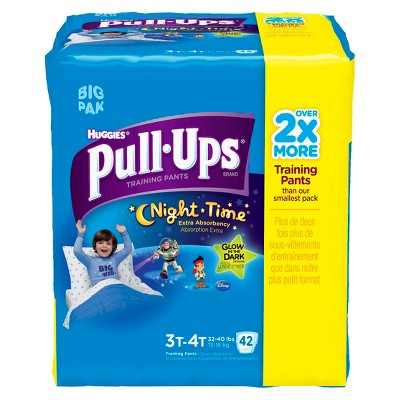 HUGGIES® Pull-Ups® Night*Time Training Pants for Boys - Size 3T-4T (42 Count)