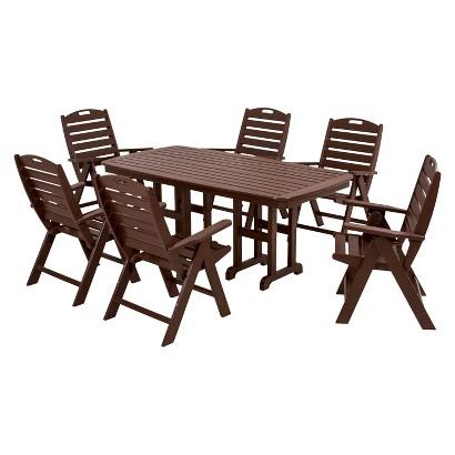 Polywood® Nautical 7-Piece Dining Furniture Set