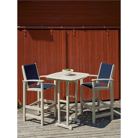 Polywood® Coastal 3-Piece Sling Bar Furniture Set