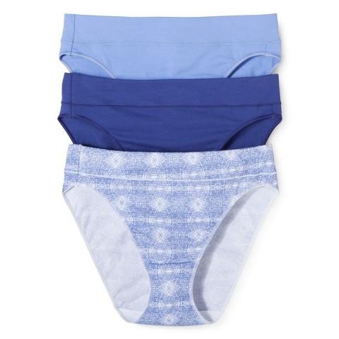 Hanes® Women's High Cut Briefs CC43AS 3-Pack (Colors May Vary)