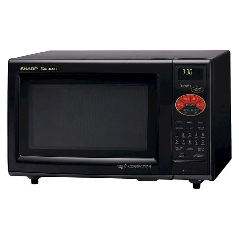 Sharp 0.9 Cu. Ft. 900W Grill 2 Convection Microwave Oven - Black
