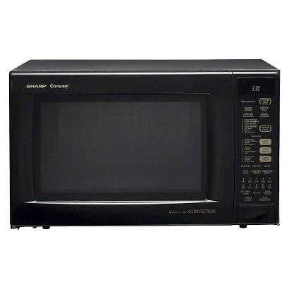 Sharp 1.5 Cu. Ft. 900W Convection Microwave Oven - Black