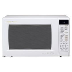 Sharp 1.5 Cu. Ft. 900 Watt Convection Microwave Oven -White R930AW