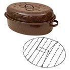 """Columbian Home 19"""" Covered Oval Roaster with Rack in Box"""