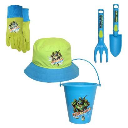 Teenage Mutant Ninja Turtles Bucket, Bucket Hat, Jersey Gloves and Tools