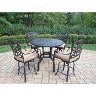 Hampton 5-Piece Aluminum Bar Height Patio Dining Furniture Set